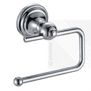 Stylish New Toilet Roll Paper Holder Wall Mounted Bathroom Accessory Chrome